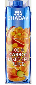 น้ำแครอทผสมน้ำผลไม้รวมแท้ พร้อมดื่ม 100%