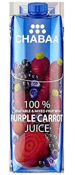 น้ำผักและผลไม้รวมผสมน้ำแครอทม่วงแท้ พร้อมดื่ม 100%