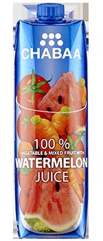น้ำผักและผลไม้รวมผสมน้ำแตงโมแท้ พร้อมดื่ม 100%