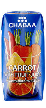 น้ำแครอทผสมน้ำผลไม้รวมแท้ 100% พร้อมดื่ม กล่องเล็ก