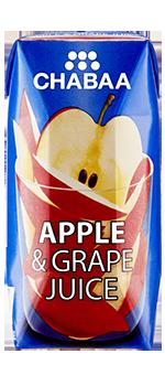 น้ำแอปเปิ้ลผสมน้ำองุ่น ผลไม้แท้ 100% พร้อมดื่ม กล่องเล็ก