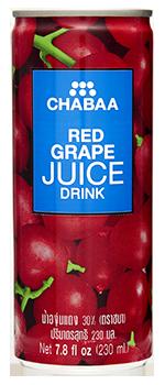 น้ำองุ่นแดง น้ำผลไม้แท้แบบกระป๋อง พร้อมดื่ม