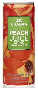 น้ำพีชผสมเนื้อพีช น้ำผลไม้แท้แบบกระป๋อง พร้อมดื่ม